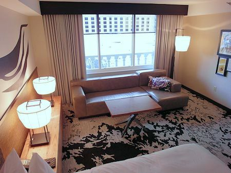Standard room in the Nobu Hotel Las Vegas.