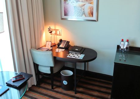 Desk area of guestroom at The Palms Hotel/Spa, Miami / South Beach
