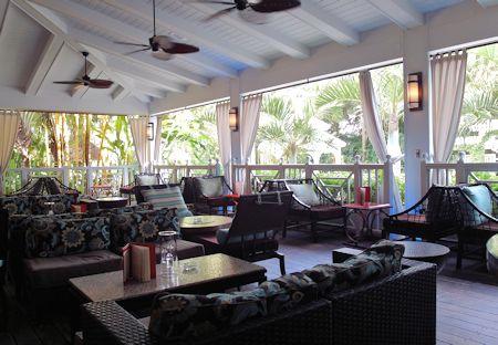 Smoking porch. The Palms Hotel/Spa, Miami / South Beach