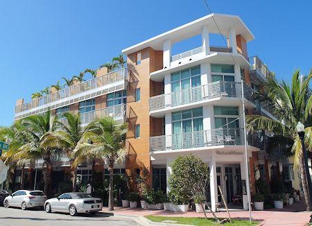 Front Entrance of the Sense Beach House, South Beach, Miami Florida