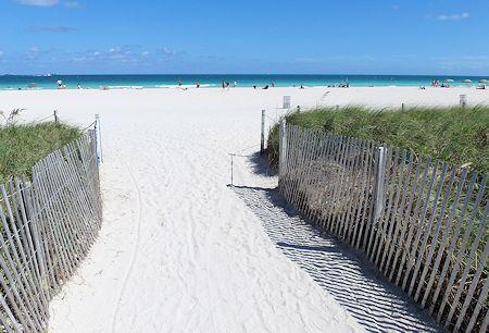 Just a short walk to sand from Sense Beach House, South Beach, Miami Florida