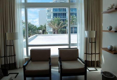 View from my suite at the Canyon Ranch Hotel & Spa, Miami Beach, Florida
