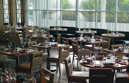 One of several restaurants in the Fontainebleau Hotel, Miami Beach Florida