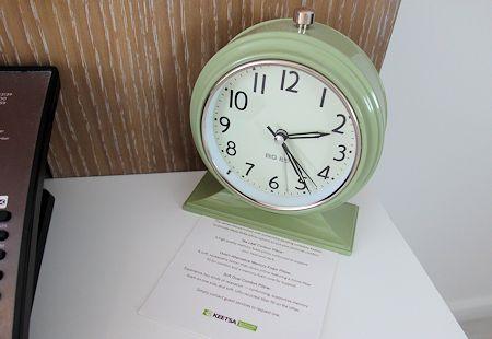 Classic old alarm clock at The James Royal Palm Hotel, South Beach, Miami Florida