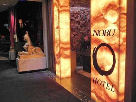 Entrance to the Nobu Hotel Las Vegas