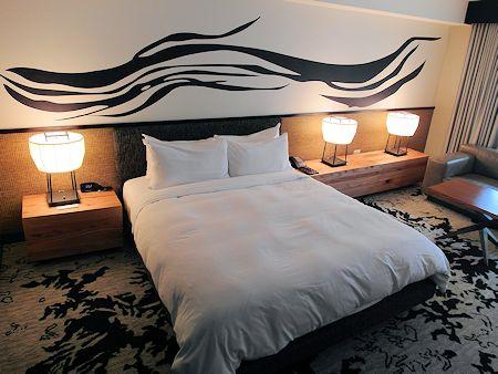 A standard room at the Nobu Hotel Las Vegas.