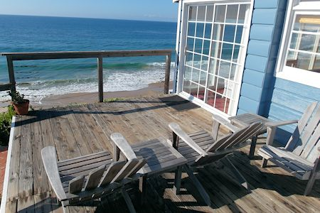 Oceanfront Deck of Crystal Cove Cottage #33