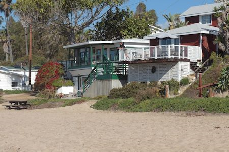 Crystal Cove Cottages along the beach.