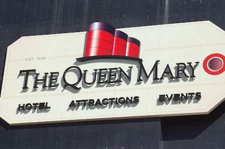 The Queen Mary - Sign - Long Beach California