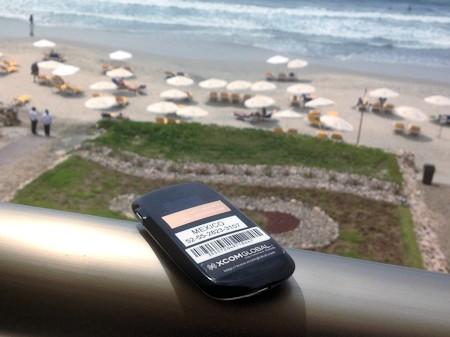 Xcom Global WiFi Hotspot overlooking beach at Iberostar Resort.