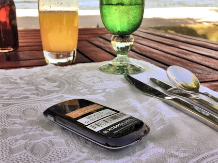 Xcom Global Mobile WiFi Hotspot at the St. Regis Punta Mita Resort beach.