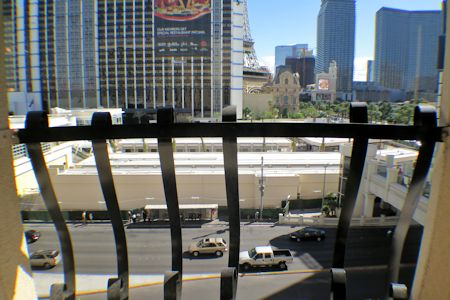 View from room #526 at Cromwell Hotel Las Vegas