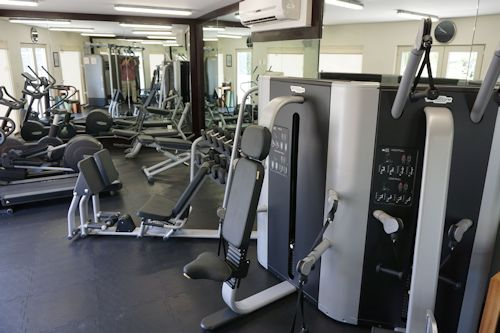 Gym area at the hotel.