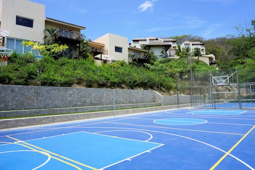 Tennis & Basketball courts at Matlali