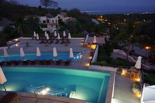 Evening view Puerto Vallarta from hotel.