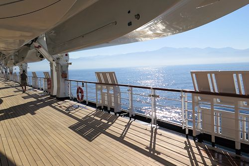 Mexico as seen from the promenade deck on the Holland America Westerdam.