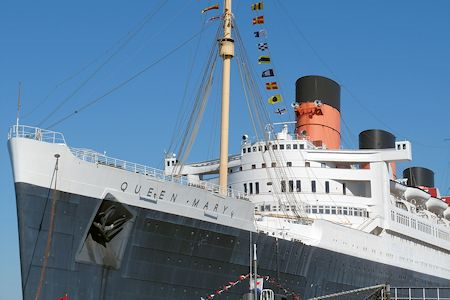 Bow of RMS Queen Mary in Long Beach California