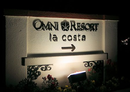 Main Entrance of Omni La Costa Resort & Spa, Carlsbad California