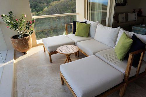 Sitting area on balcony of Suite 330 Matlali Hotel