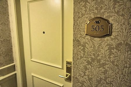 Door of Room 505, Wedgewood Hotel