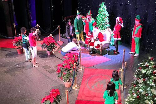 Santa has arrived at The Main Stage on the Westerdam.