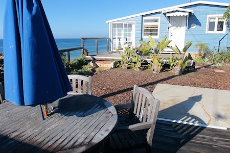 Patio area of Crystal Cove Cottage #33