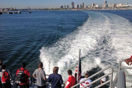 Boat ride to Avalon Harbor and Catalina Island.
