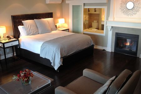 Ocean View Mini Suite #215 at Hotel Metropole Avalon CA.