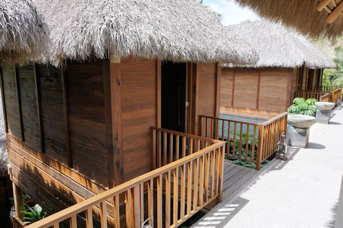 Spa bungalows at Matlali hotel.